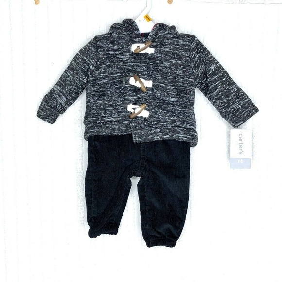 Carters Baby Boys Hooded Buffalo-Check Toggle Vest Red//Black